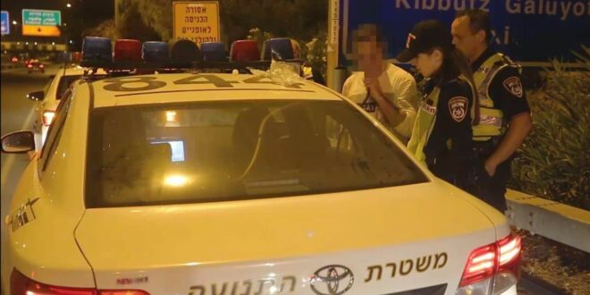 תושב ראשון לציון נתפס נוהג שיכור בניגוד לכיוון התנועה