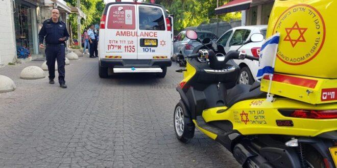 הולכת רגל בת 80 נפצעה קשה מפגיעת משאית ברמת גן