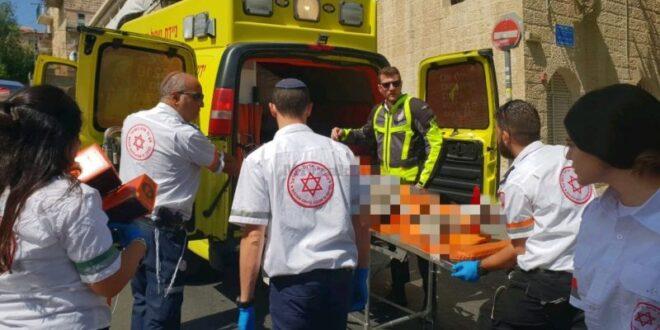 בן שש נפצע באורח בינוני לאחר שנפל מגובה בחצר בית בירושלים