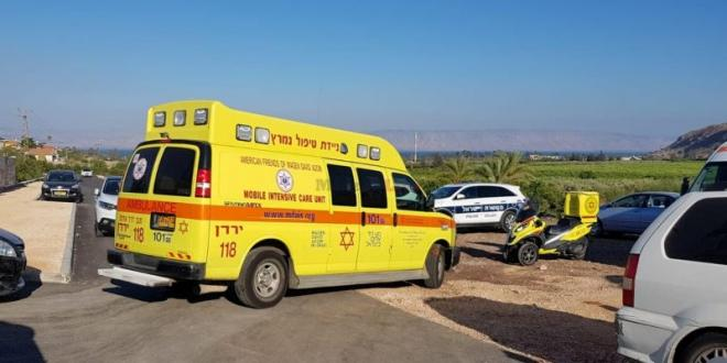 בן 20 נפצע בינוני בהתהפכות טרקטורון סמוך ללהבות הבשן