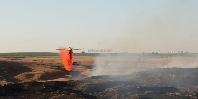 7 שריפות פרצו בעוטף עזה כתוצאה מבלוני תבערה