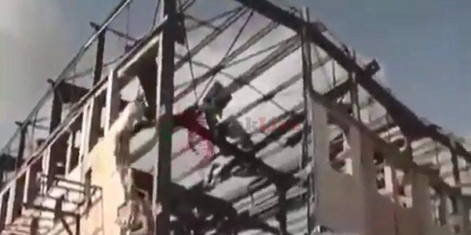 תיעוד: המבנה שנהרס בתקיפת חיל האוויר בפאתי לטקיה בסוריה