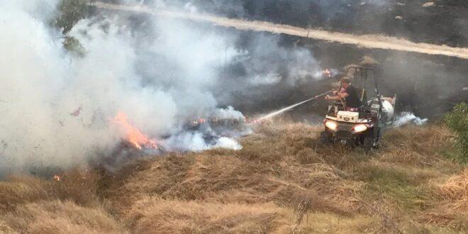 6 שריפות פרצו בעוטף עזה כתוצאה מבלוני ועפיפוני תבערה
