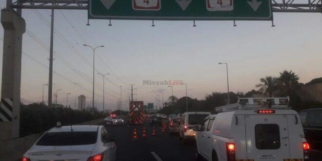 עצרת החרדים: נחסמה התנועה בכביש 4, כוחות משטרה במקום