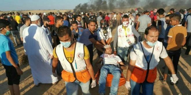 דיווח: 30 פצועים פלסטינים בגבול עזה, יחיא סינוואר הגיע להפגנות