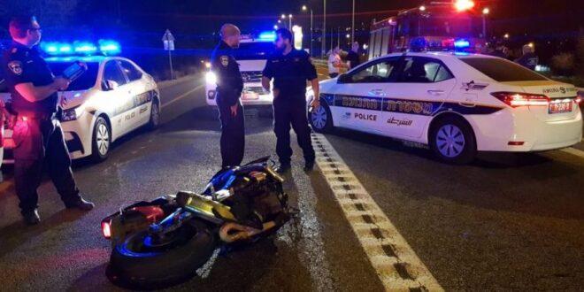 רוכב אופנוע כבן 20 איבד שליטה והתהפך בכביש 854 בין כרמיאל לת...