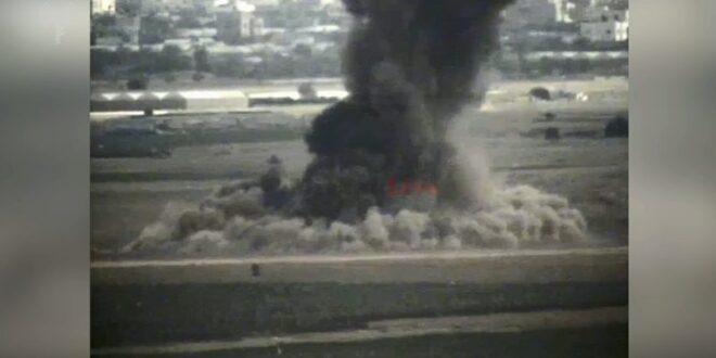 צפו בתיעוד: תקיפת מנהרת טרור באזור חאן יונס