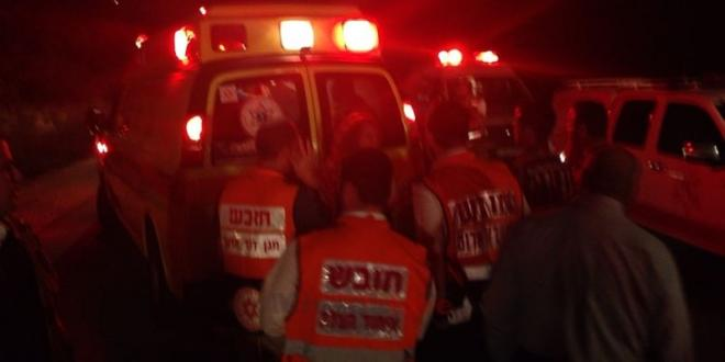 3 פצועים בינוני ו-1 קל בתאונה בכביש 60 סמוך למחלף תל שבע