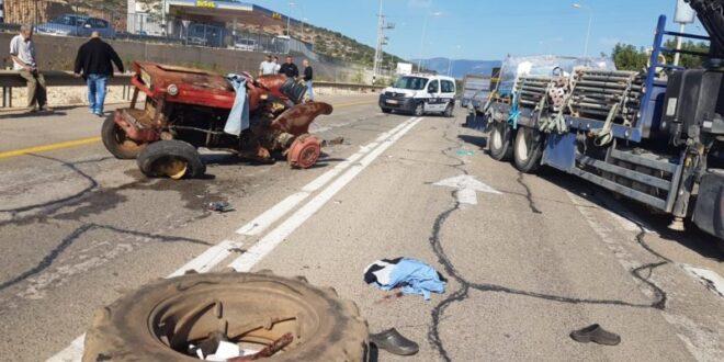 בן 70 נפצע קשה בתאונת דרכים בין טרקטורון למשאית סמוך לעילבון