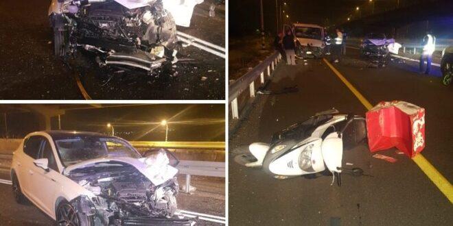 גבר בן 60 נפצע בינוני ו-3 קל בתאונת דרכים סמוך לצומת נבות בצפון