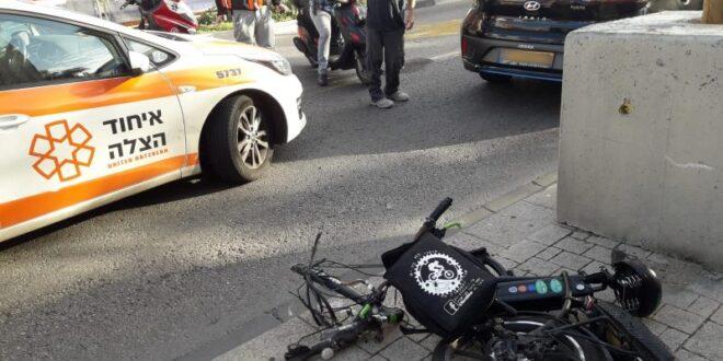 מת מפצעיו רוכב האופניים החשמליים שנפגע מאוטובוס בתל אביב