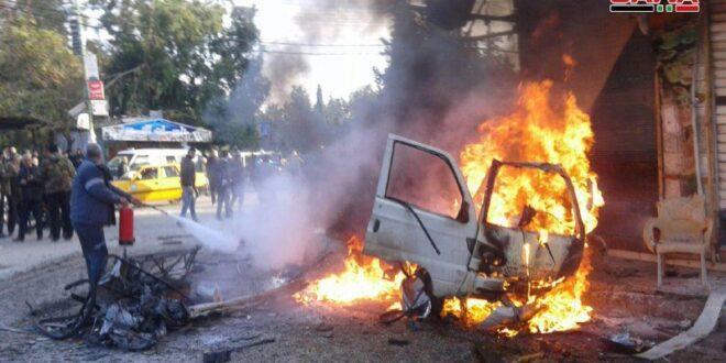 סוריה: הרוג ו-14 פצועים בפיצוץ מכונית תופת במערב המדינה