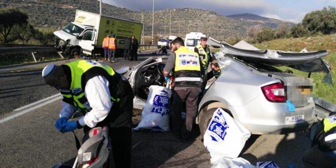 שני הרוגים בתאונת דרכים קטלנית בכביש 60 סמוך ליישוב עלי
