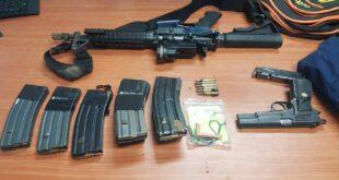 אקדח, רובה סער מסוג M-16, מחסניות, תחמושת ...