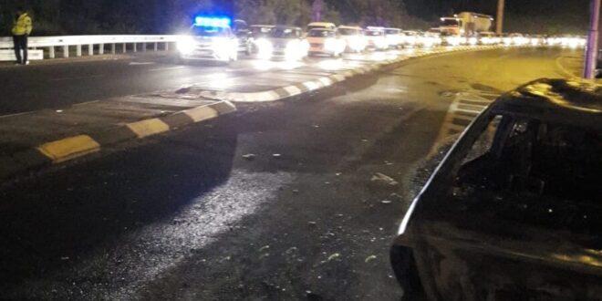 כביש 443 מצומת גימזו למחלף בן שמן נחסם לתנועה
