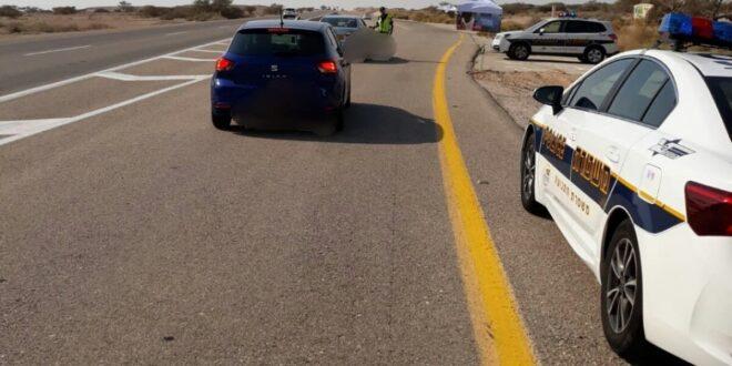 נעצר נהג לאחר שנתפס נוהג בכביש 90 תחת השפעת סמים