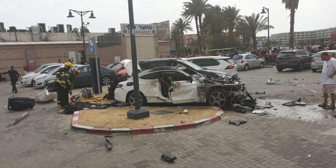 2 פצועים קל בפיצוץ רכב באילת