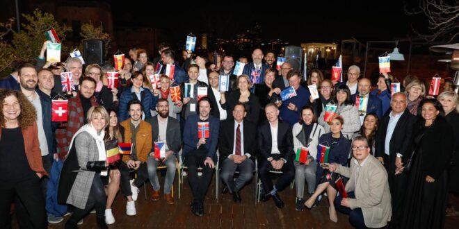 אירוח חגיגי נערך לראשי משלחות המדינות המשתתפות באירוויזיון
