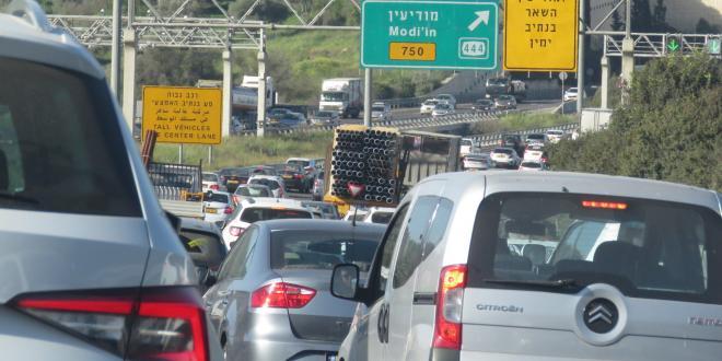 אגף התנועה: מפת עומסי התנועה בכבישים