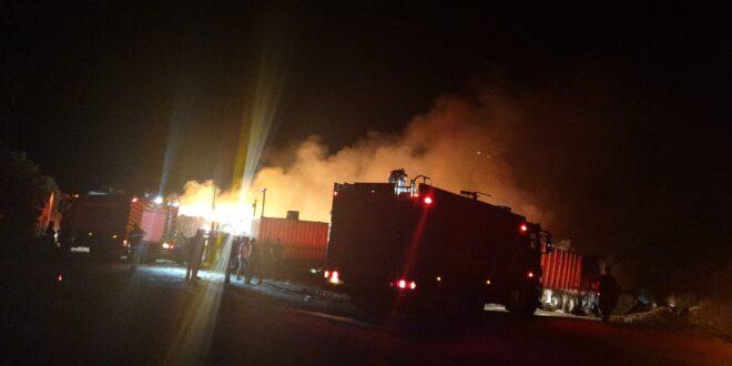 שריפה שפרצה במזבלה בעין מאהל, הוזעקו צוותי כיבוי נוספים