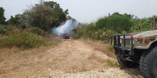 חודשה השריפה באזור כרמיה