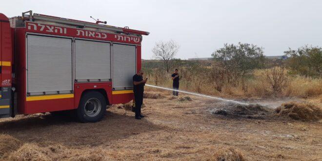 שתי שריפות פרצו בשער הנגב כתוצאה מבלוני תבערה מרצועת עזה