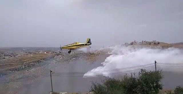 15 נפגעים קל משאיפת עשן בשריפה בישוב נגוהות שבהר חברון