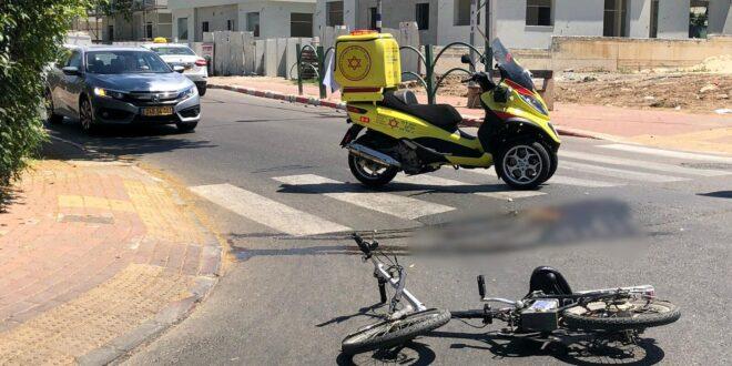 רוכב אופניים בן 18 נפצע קשה ברחובות