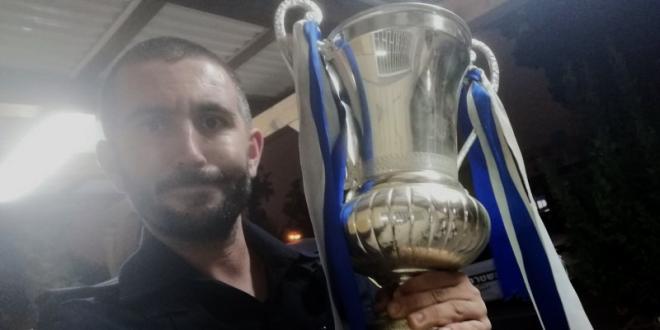 """""""גביע המדינה"""" שנגנב הוחזר למועדון קבוצת הכדורגל"""
