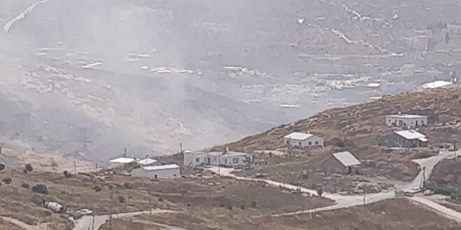 שריפת קוצים גדולה פרצה ליד מצפה יצהר