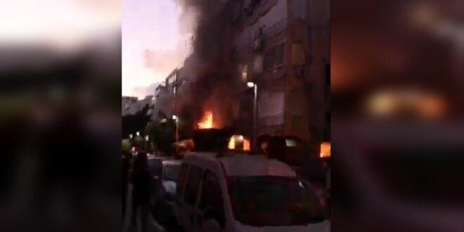 כוחות כיבוי פעלו בשני מוקדי שריפות בתל אביב, אין נפגעים