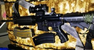 """רבה M16, אקדח ותחמושת רבה נתפסו במהלך חיפוש של בלשי משטרה וכוחות צה""""ל ..."""