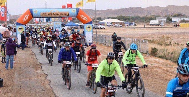 מעל 1500 רוכבים השתתפו במירוץ סובב ערבה באופניים