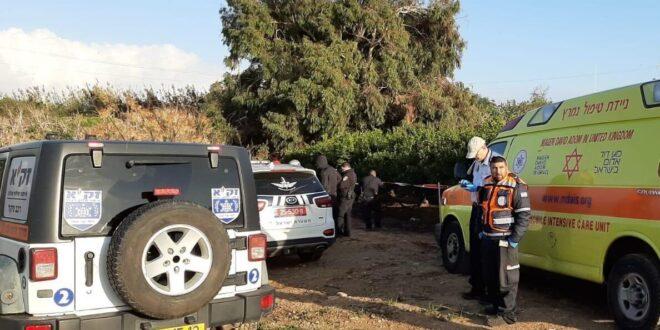 גופת גבר כבן 35 נמצאה בשטח חקלאי פתוח סמוך לרחובות
