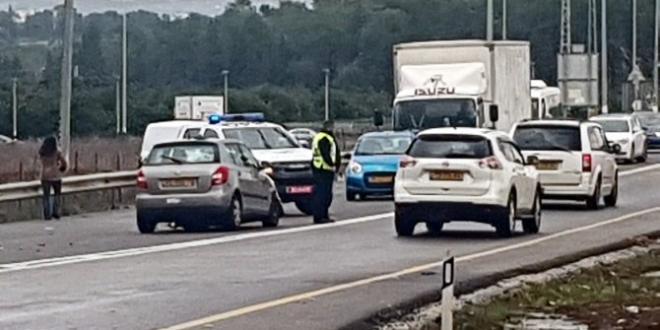 צומת כלניות נסגר לתנועה בשני הכיוונים בעקבות תאונת דרכים