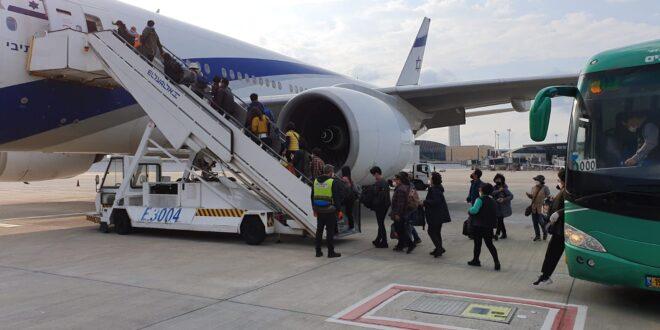 222 נוסעים יצאו מישראל בטיסה מיוחדת לסיאול בדרום קוריאה