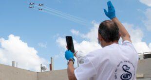 צפו בתמונות: מטס חיל האוויר כאות הוקרה והצדעה לצוותי הרפואה