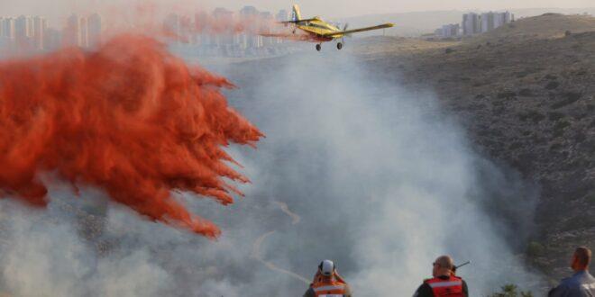 צפו: פעילות מטוסי הכיבוי של המערך האווירי במשטרת ישראל