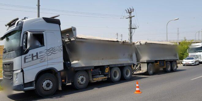 9 משאיות הושבתו בשל חריגות משקל, 4 נמצאו עם ליקויי בטיחות