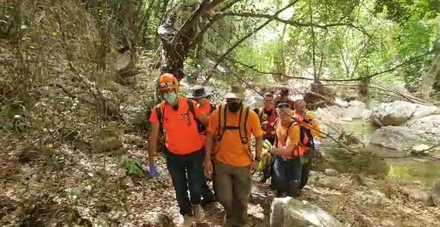 """יחידת חילוץ """"גליל כרמל"""": בן 68 חולץ מנחל כזיב עם חשד לשבר ברגל"""
