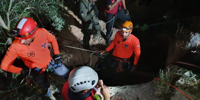 חולצו 3 גברים שנלכדו במערה בשטח פתוח באזור הכפר איכסאל