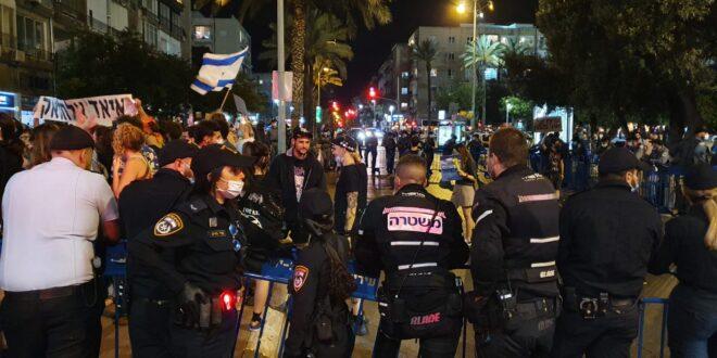 ההפגנה בכיכר רבין בתל אביב: נעצרו 5 מפירי סדר שהתנגדו לפינוי