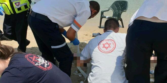 הטביעה בחוף סירונית בנתניה: גבר בן 67 במצב קשה