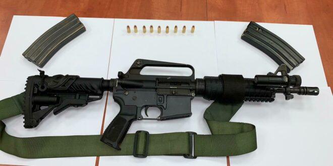 המשטרה חשפה נשק מסוג M16 וכדורי תחמושת באום אל פאחם