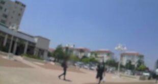 שוטרי משטרת ישראל אוכפים את התקנות לשעת חירום בכל הארץ. השוטרים נמצאים...