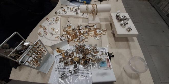 4 גברים ממזרח ירושלים נעצרו בחשד לגניבת עשרות תכשיטים