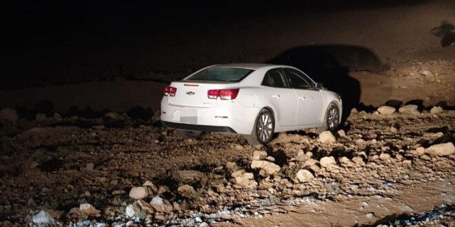 נעצרו חשודים בתאונת פגע וברח בערד, הרכב אותר נטוש ליד בית העלמין בעיר