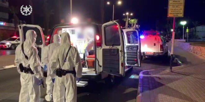 """צפו: חשוד כחולה קורונה אותר ע""""י המשטרה והועבר לבית החולים"""