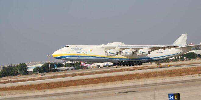צפו: מטוס התובלה הגדול בעולם הגיע לישראל