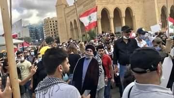 """אלפי מפגינים בביירות: """"רוצים להפיל את השלטון"""""""